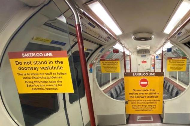 social distancing london underground